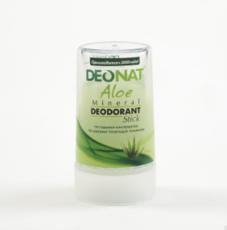 Дезодорант-Кристалл с натуральным  соком АЛОЭ .  стик зеленый.    40 гр.