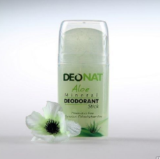 Дезодорант-Кристалл с натуральным соком АЛОЭ. стик овальный. выдвигающийся  (push-up). 100 гр.